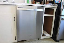How To Build Dishwasher Cabinet Adding A Dishwasher To Existing Cabinets Twofeetfirst