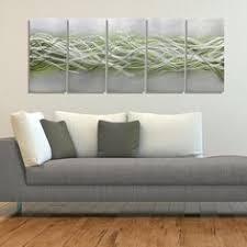 pink u0026 silver modern metal painting abstract metal wall art