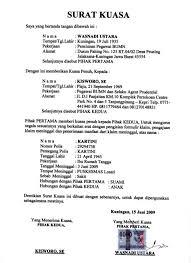 kumpulan contoh surat kuasa yang baik dan benar ragam informasi