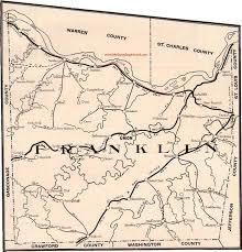 missouri map franklin county missouri 1904 map
