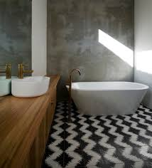 awesome concrete bathroom contemporary with timber vanity concrete