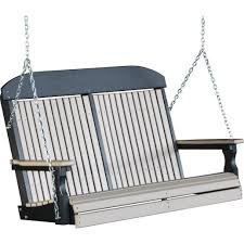 Luxcraft Fine Outdoor Furniture by Luxcraft Classic Highback 4ft Recycled Plastic Porch Swing