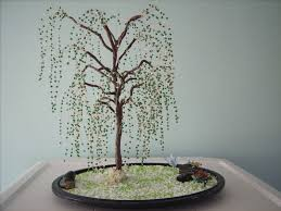 beaded trees a wire tree beadwork and wirework on cut out keep