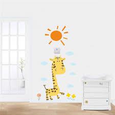stickers girafe chambre bébé animaux zoo girafe soleil fleur stickers muraux stickers pour