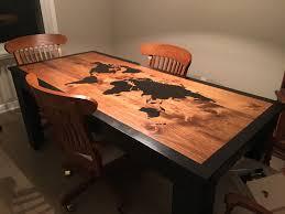 i built a world map dining room table album on imgur
