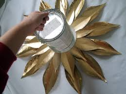 How To Make Wall Decoration At Home by Decorating Gold Sunburst Mirror Plus Console Table And Pretty