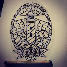 Nautical Tattoos by If Anybody Is Down To Get This Killer All Seeing Lighthouse Tattoo