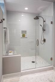 Bathroom Glass Tile Designs by Bathroom Walk In Shower Enclosures Subway Tile Bathrooms