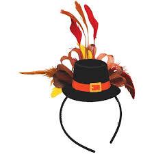 top hat fascinator headband thanksgiving pilgrim