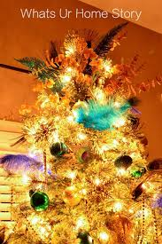 themed christmas our 2016 peacock themed christmas tree whats ur home story