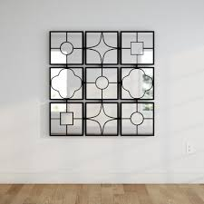 home depot wall decor metal 49 in x 49 in wall decor framed mirror 44521 the home depot