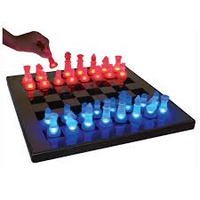 furniture inspiring dragon chess set with blue light chess and