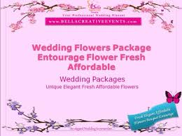 Affordable Flowers - bridal flowers wedding packages philippines bella creative