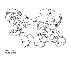 mario sonic free coloring pages art coloring pages