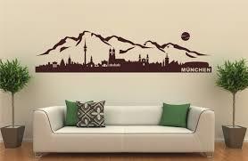 wandtattoos fã rs schlafzimmer nr 25 wandtattoo skyline münchen alpen aufkleber wohnzimmer