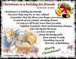 christmas poem for friends u2013 happy holidays