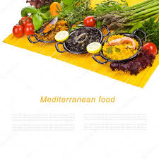 spanish mediterranean spanish mediterranean sea food black rice paella noodles in a