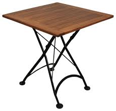 Outdoor Folding Tables French Cafe Bistro Folding Table Black Frame 28