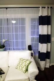 Blue And White Striped Drapes How To Paint Striped Curtain Panels