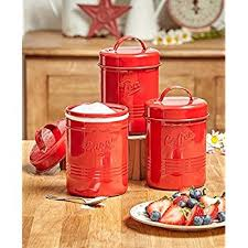 metal kitchen canisters vintage set of 3 white metal kitchen canisters made