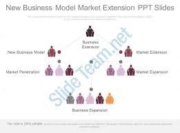 new business model market extension ppt slides templates