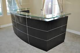 Reception Desk Plan Small Curved Reception Desk High End Regarding Attractive