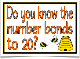 number bonds to 20 bees treetop displays with a prompting