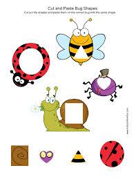 cut and paste kindergarten preschool worksheets