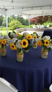 sunflower centerpieces country rehersal dinner sunflowers and burlap sunflowers plate