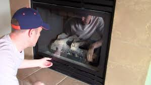 How To Clean Fireplace Chimney by How Open U0026 Remove To Clean The Glass Cover On A Gas Fireplace