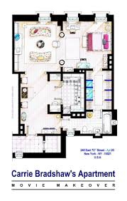 Florr Plans by Tv Floorplans How The Apartments In Your Favourite Shows Are