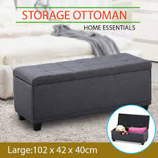 foot of bed storage ottoman blanket box storage ottoman linen fabric foot stool chest toy bed