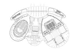 national theatre floor plan paul andreu architecte jinan grand theater china
