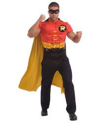 Muscle Man Halloween Costume Batman Robin Muscle Chest Kit Costume Men Superhero Costumes