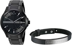 armani bracelet images Armani exchange men 39 s ax7101 watch and bracelet gift jpg