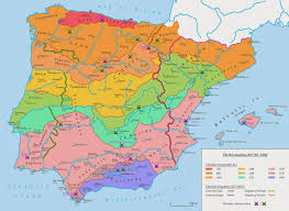 Catalonia Spain Map by