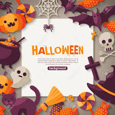 background halloween art halloween background vector illustration flat halloween icons