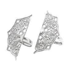 designer handmade jewellery half moon mandala silver rings ashton handmade jewellery