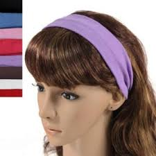 buy simple solid color stretch headband multicolor online best