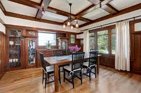 Dining Room With Fireplace by 1918 Larchmont Craftsman With Sun Room Tiled Fireplace Asks 1 7m