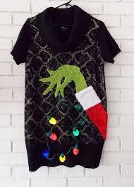 light up ugly christmas sweater dress ugly christmas sweater dress light up the grinch stealing lights