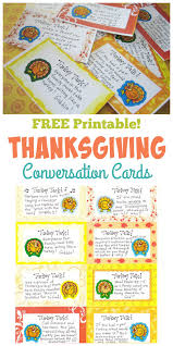 thanksgiving conversation cards free printables happy home