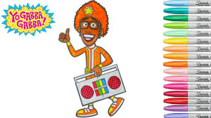 Yo Gabba Gabba Images by Yo Gabba Gabba Coloring Book Dj Lance Rock Colouring Pages Youtube