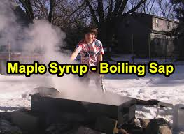 easy way to boil sap over an open fire u0026 make maple syrup youtube