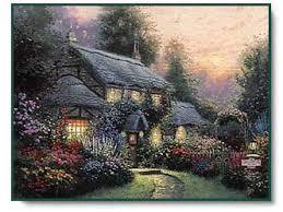 kinkade julianne s cottage centered