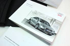 owners manual books case 2009 audi a4 b8 genuine ebay