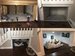 this guy built his dog a separate room in his house aww