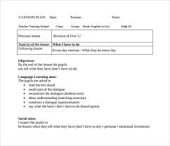 sample elementary lesson plan template 7 free documents