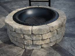 48 Fire Pit Ring by Immaculate White Stone Fire Pit Ring On Cement Pavers Backyards As