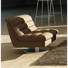 Contemporary Swivel Armchair Astro Leather Swivel Chair Chocolate J U0026m Furniture Modern